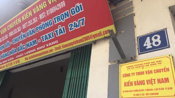 Dịch vụ chuyển nhà Kiến Vàng giá tốt nhất tại Hà Nội