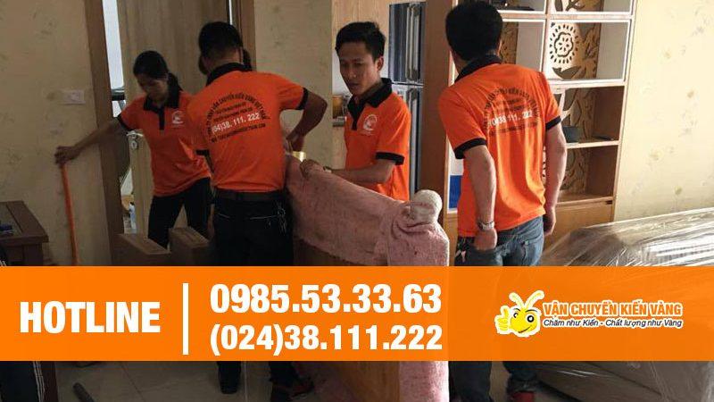 Dịch vụ chuyển nhà trọn gói Kiến Vàng giá tốt nhất tại Hà Nội