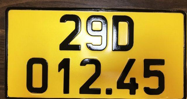 Thủ tục và chi phí đổi biển vàng xe kinh doanh vận tải.