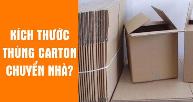 Kích thước thùng carton chuyển nhà?